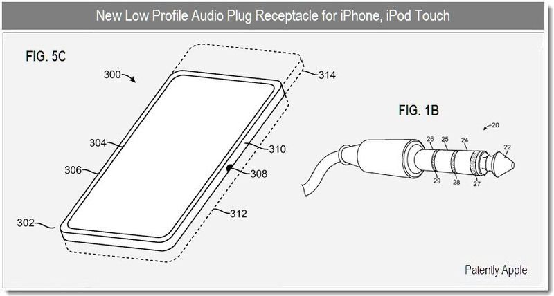 5 - LOW PROFILE AUDIO PLUG FOR IPHONE, IPOD TOUCH
