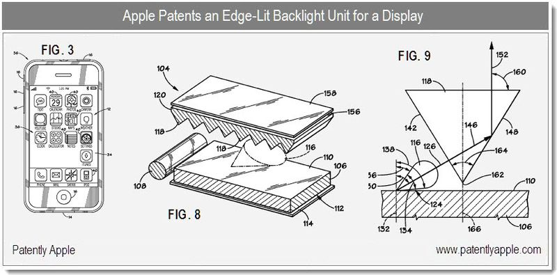 3 - Apple patents an edge-lit backlight unit for a display - dec 2010