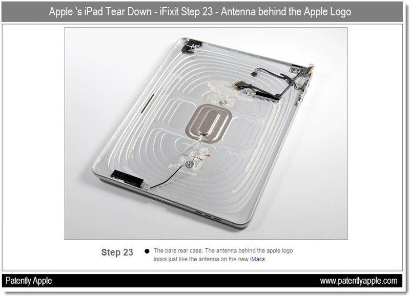 4 - iFixit - Step 23 - antenna behind Apple logo