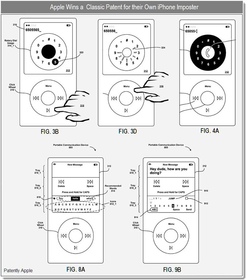 3 - Apple Wins a patent for the clickwheel cell-phone - dec 2010
