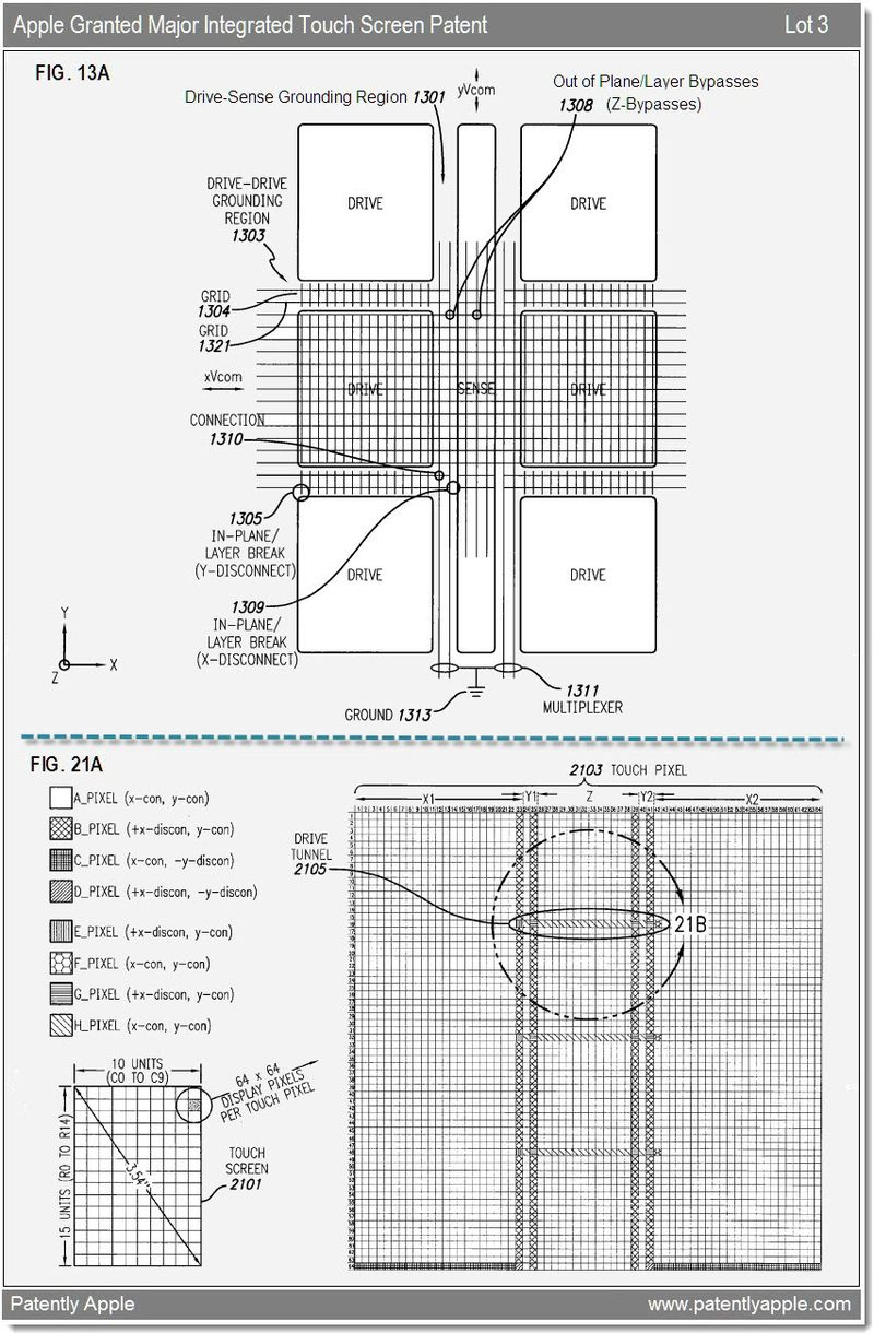 4 - integrated touch screen - apple patent lot 3