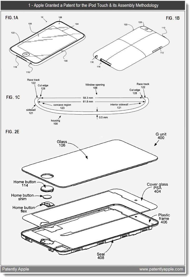 3 - iPod touch - assembly methodologies - granted patent Apple Jan 2011