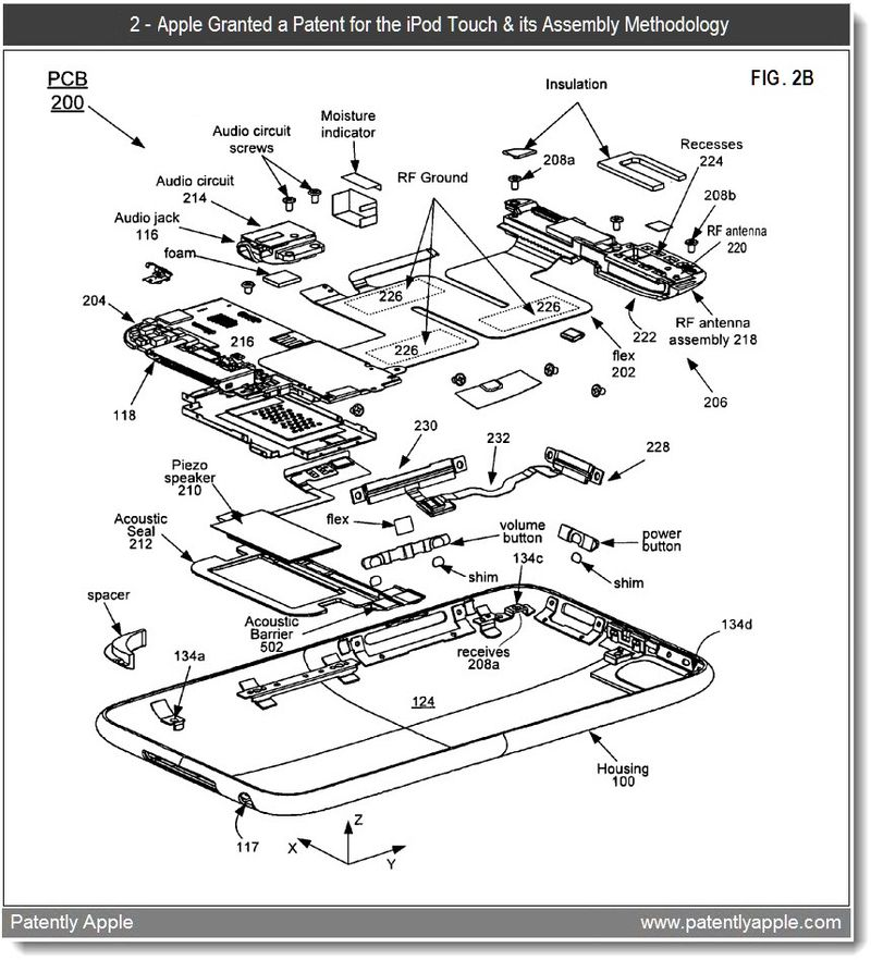4 - iPod touch - assembly methods - apple granted patent jan 2011