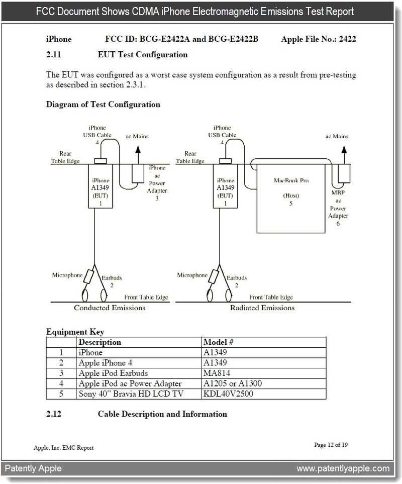4 - Electromagnetic emmisions test report page 12 - Apple inc - jan 5, 2011