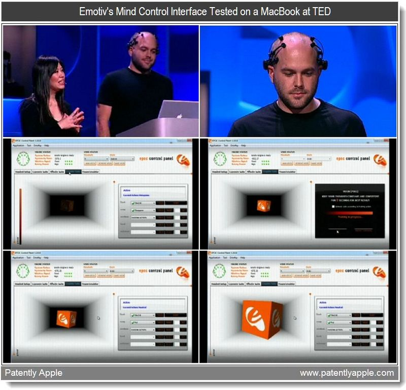 3 - Emotiv mind control systems - on a MacBook at TED