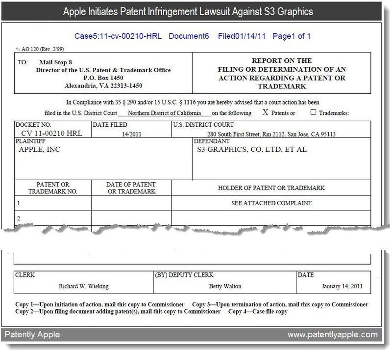 3b - document 6 - apple vs s3 graphics patent infringement lawsuit, jan 2011