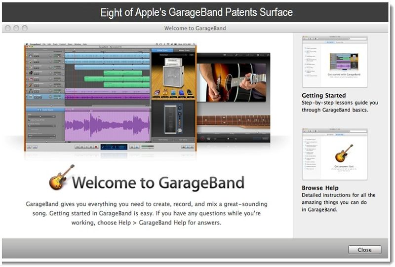 1Final - Cover - Seven of Apple's GarageBand Patents Surface