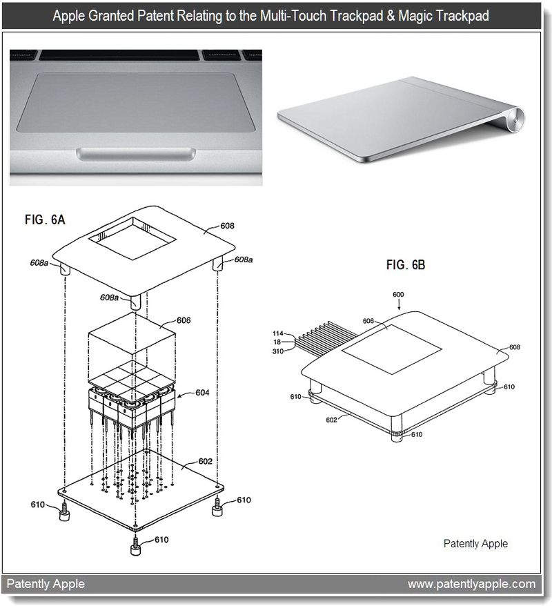 4 - Apple Patent relating to Multi-Touch Trackpad & Magic Trackpad - jan 2011
