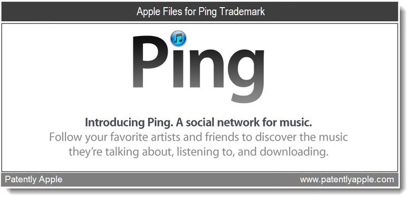 1 - Cover - Ping trademark filing , Apple, Jan 2011