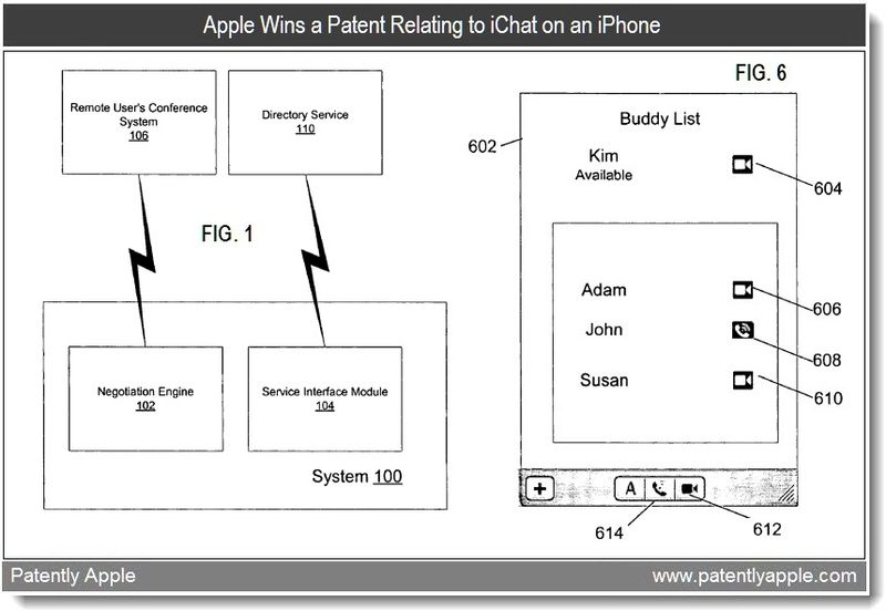 3 - Apple granted patent for ichat on iPhone - feb 2011