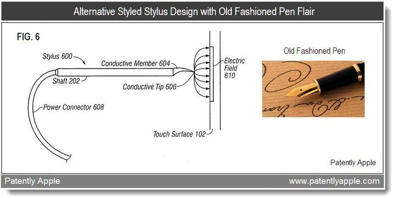 5 - Apple patent - alternative designed stylus pen patent - 2011