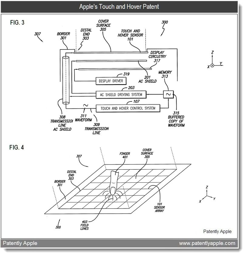 2 - Apple Patent - touch and hover figs 3 and 4 - feb 2011