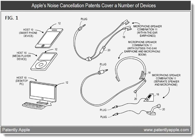 Xtra - noise cancellation patents cover a number of devices - feb 2011 apple patent