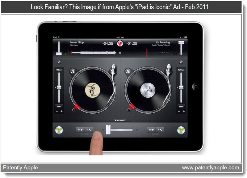Extra - Turn Table App for Apple's Tablet - the iPad - from their ad the iPad is Iconic which ran in feb 2011