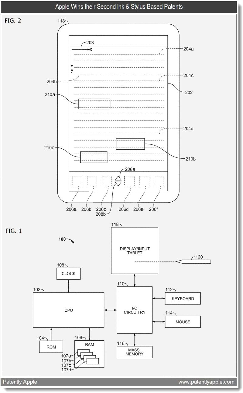 2 - Apple wins their second ink & stylus patent in 18 months - feb 22, 2011