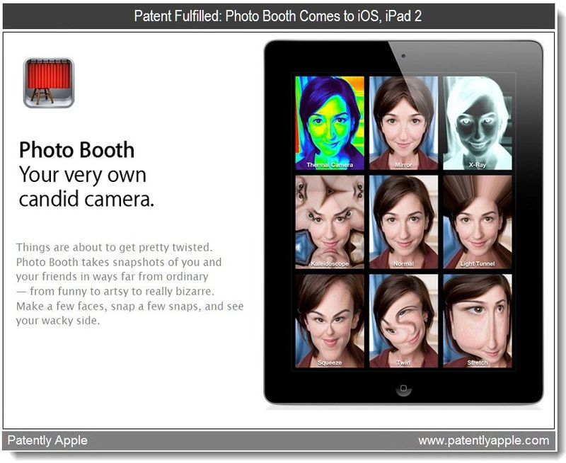 2 - Photo Booth for iPad 2 - Patent fulfilled in-part - mar 2011