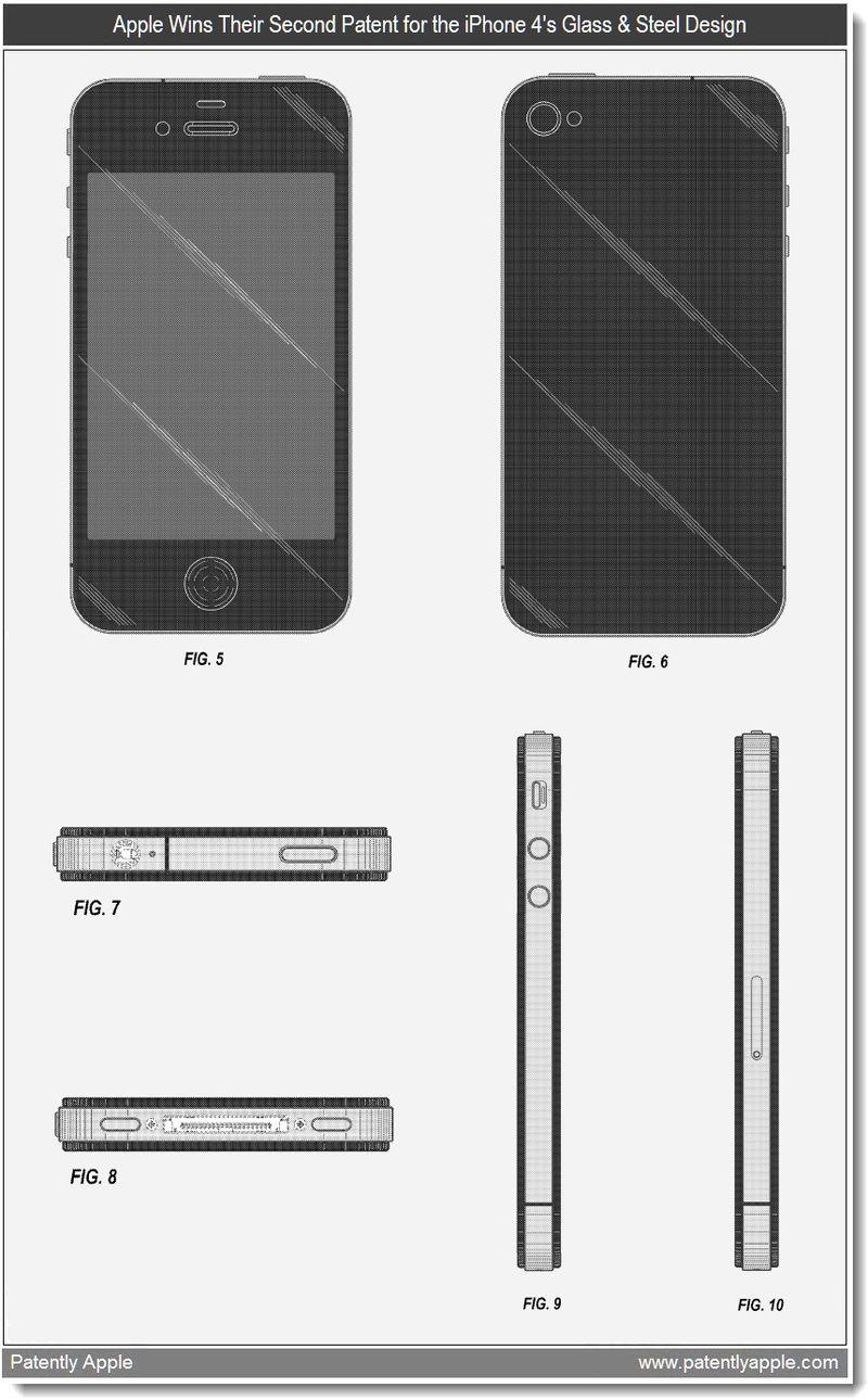 3 - Design Patent - iPhone 4 - Apple Granted Patent March 2011
