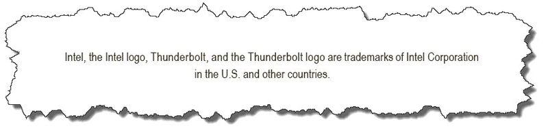 Intel statement on Intel website re Thunderbolt