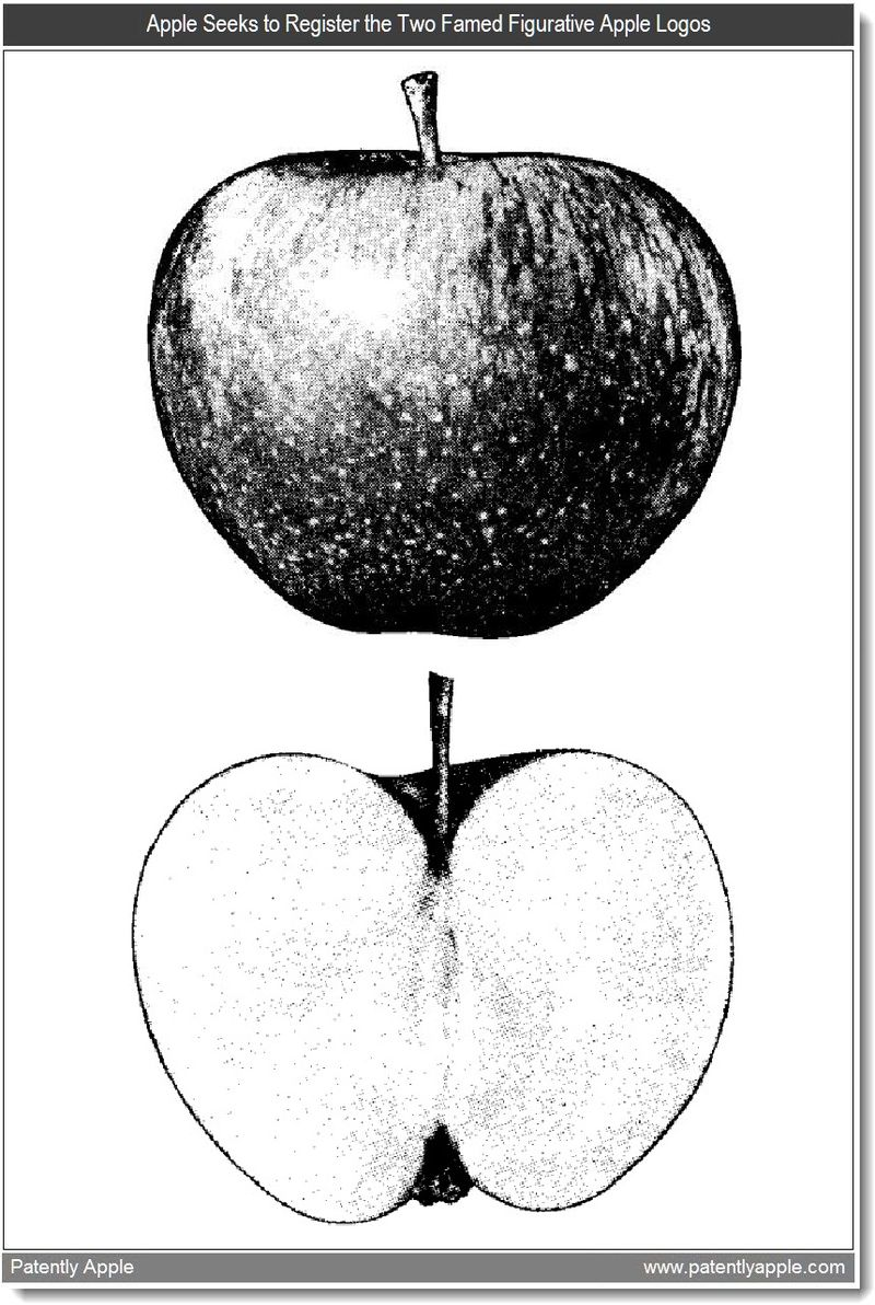3 - Apple Inc. Seeks to Register the Two Famed Figurative Apple Logos - mar 2011