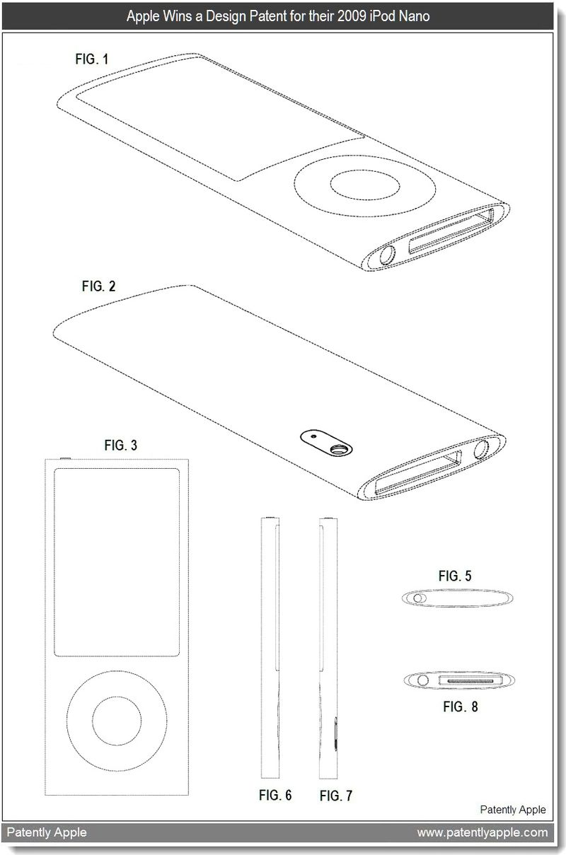 3 - Apple Wins Design Patent for 2009 iPod nano - mar 2011