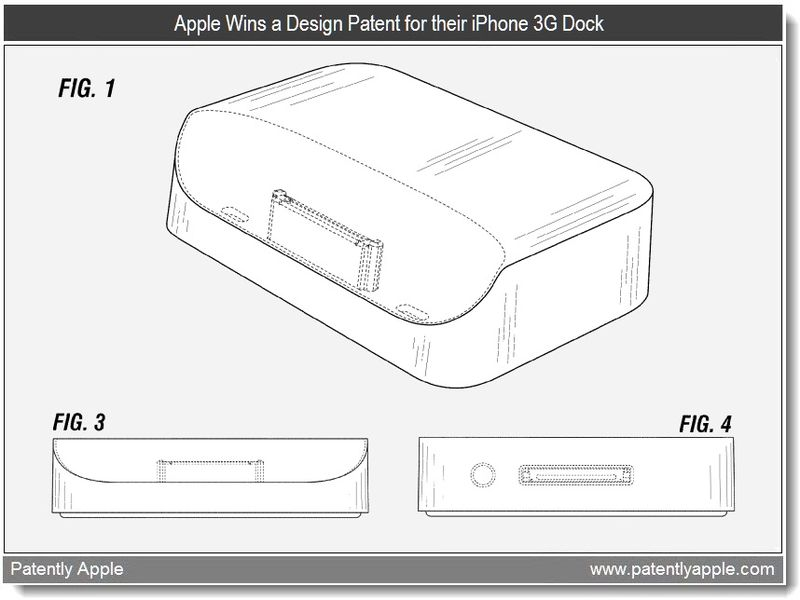 4 - Apple iPhone 3G Dock - apple design patent mar 2011