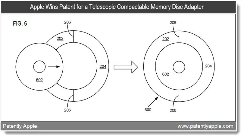 Xtra graphic - apple wins patent for telescopic compactable memory disc adapter - mar 2011