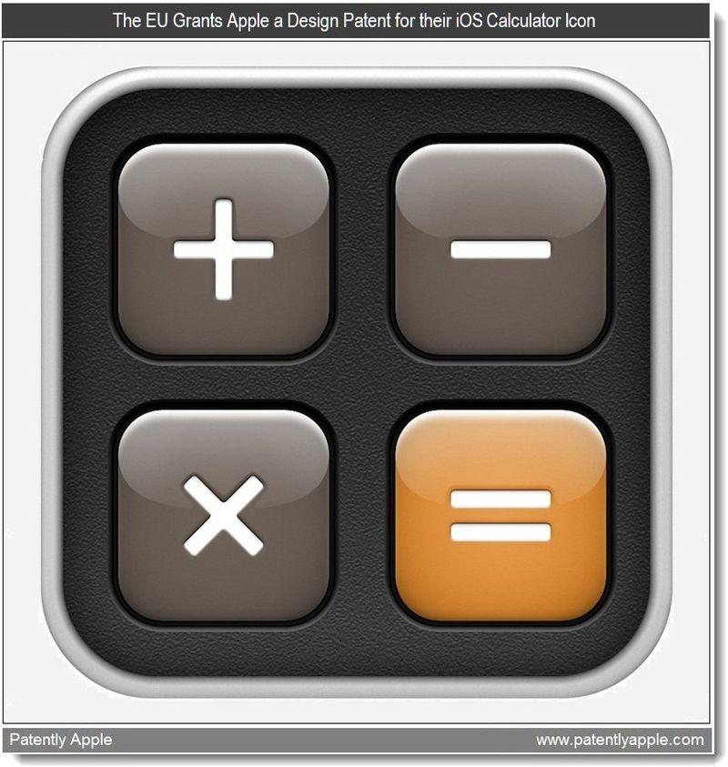 8 - The EU Grants Apple a Design Patent for their iOS Calculator Icon - Mar 2011