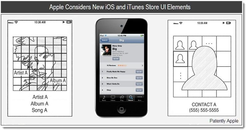 Cover II - Apple Considers New iTunes Store Graphics & iOS Elements - march patent 2011 -