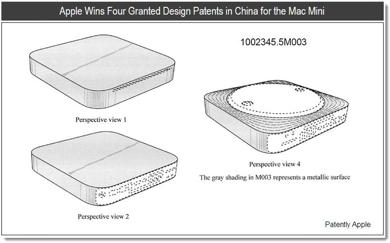 4 - Apple Wins Four Design Patents in China March 25, 2011