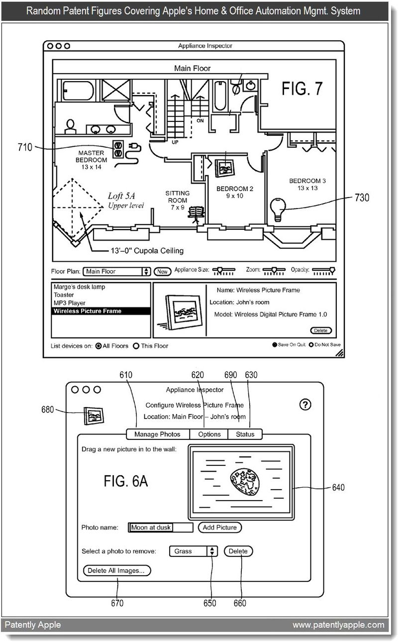 3 - Random patent figures re apple's home & office automation system - mar 2011