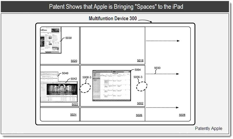 Patent Shows that Apple is Bringing Spaces to the iPad - mar 2011