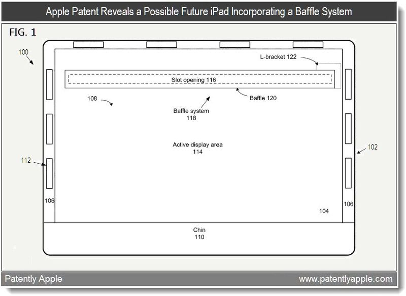 2 - Apple Patent reveals a possilble future iPad incorporating a Baffle System - 2011