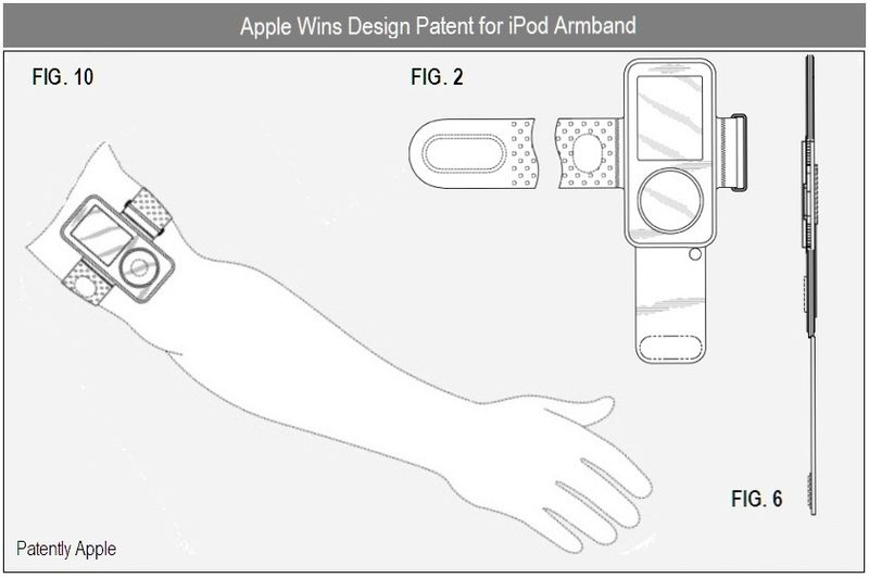 3 D -  Apple iPod armband granted patent - dec 2010