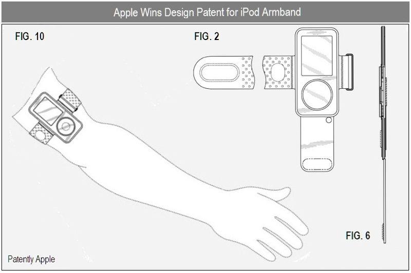 3 D -  Apple iPod armband granted patent - dec 2010