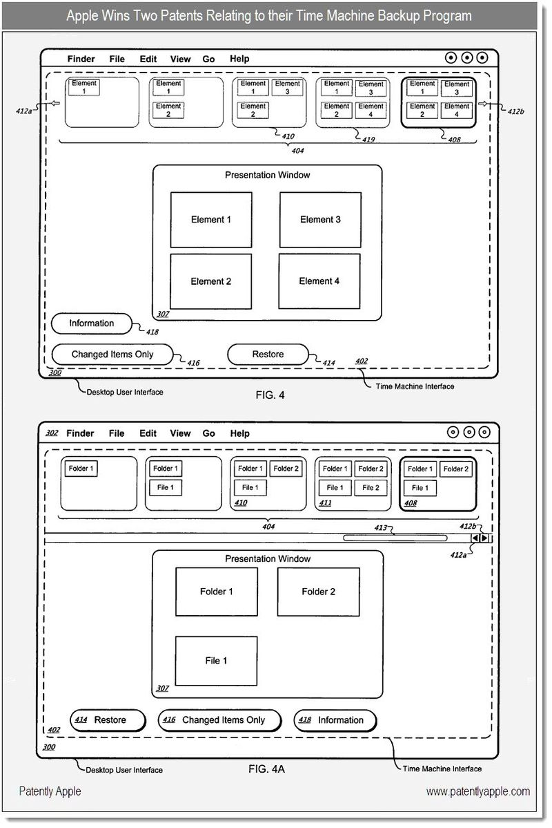 4 - Apple wins two patent for Time Machine Backup Program - Dec 2010