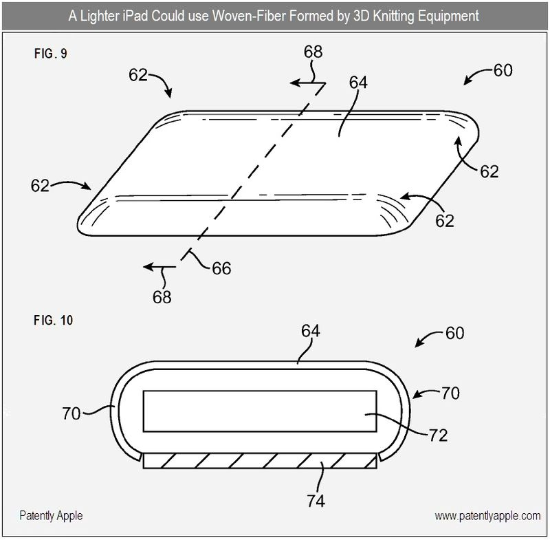 2 - Apple considers woven fiber material for entry iPads - dec 2010