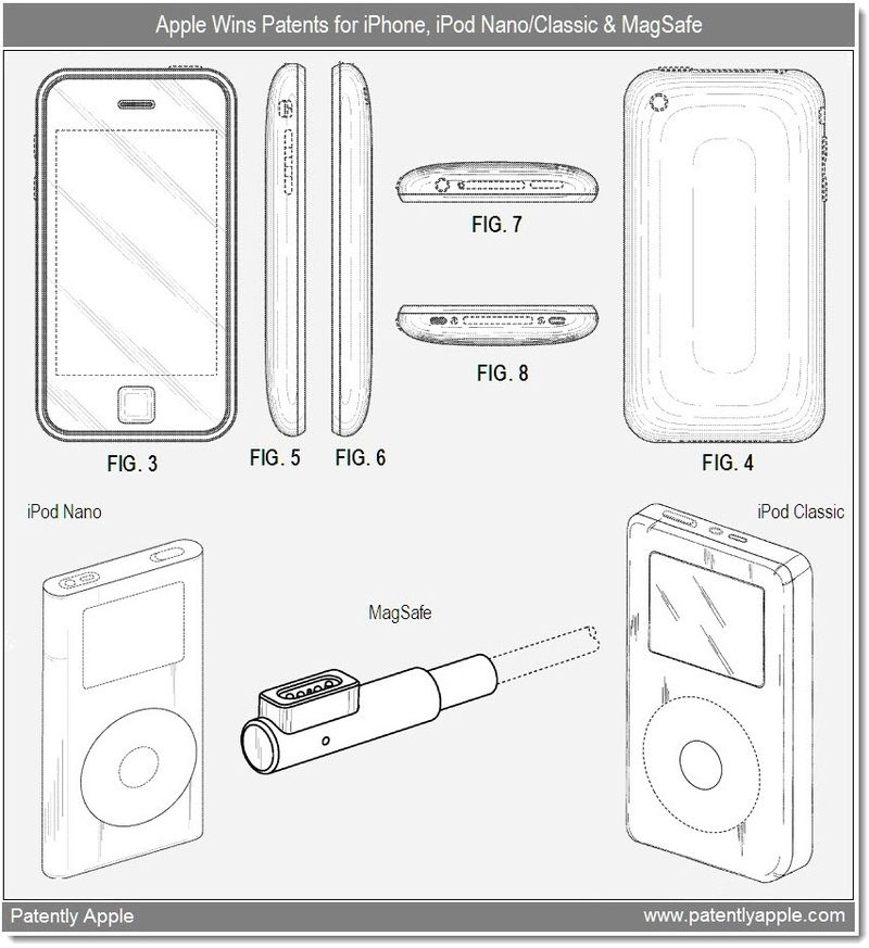 4 - Design Patent wins Apple - iphone, ipod nano, classic + MagSafe - dec 28, 2010