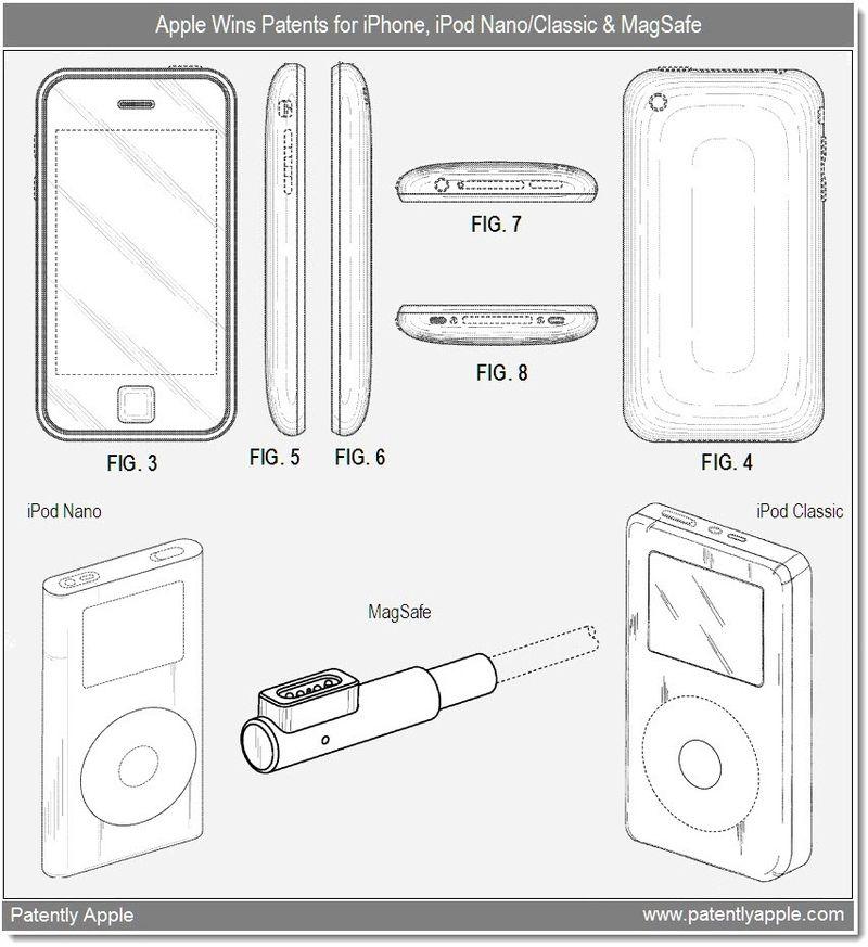 4 - Design Patent wins Apple - iphone, ipod nano, classic + MagSafe - dec 28, 2010