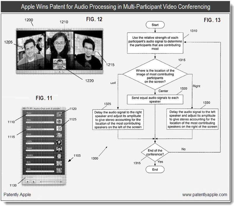 3 - apple patent - audio processing in iChat, FaceTime - jan 2011
