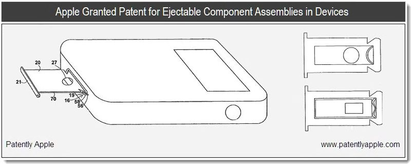 1 - Cover - Apple patent 2011 jan - ejectable component assemblies in devices