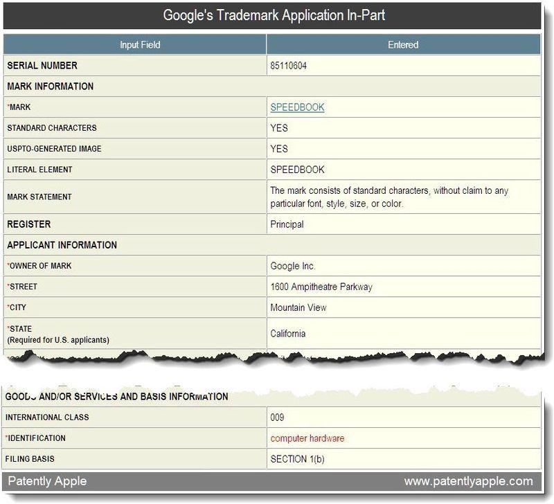 4B  - Google Trademark Speedbook - hardware