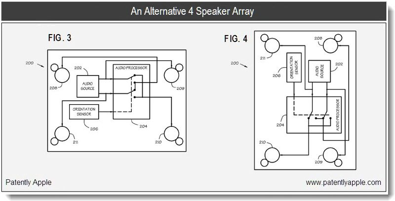 3 - alternative 4 spearker array - apple patent