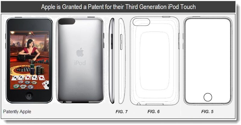 2 - 3rd Gen iPod Touch - Apple Design Patent - Jan 2011
