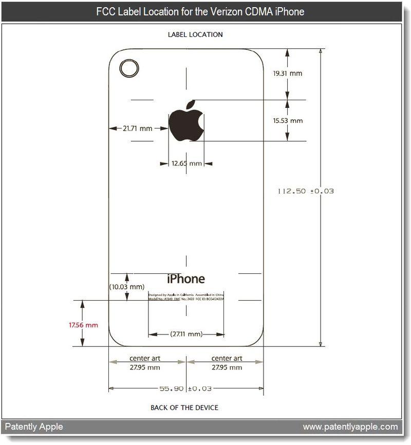 5 - Verizon, CDMA iPhone label location info - apple 2011