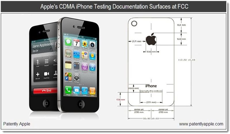 1B  - Cover - Apple's CDMA iPhone testing doc shows up at FCC - Jan 11, 2011