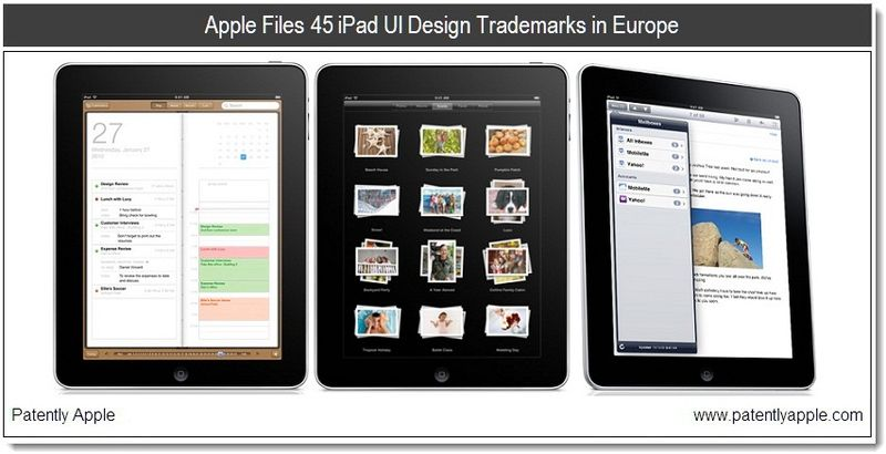 1b - cover - 45 iPad UI design Trademarks filed in Europe - Jan 2011