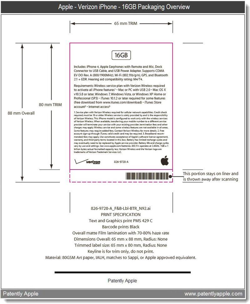 3 - apple verizon iphone 16GB packagng overview - jan 2011