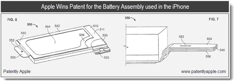 4 - Apple Wins patent for battery assembly used in the iPhone - Jan 2011