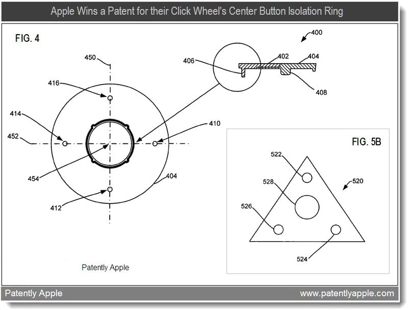 Xtra - apple granted patent for center button isolation ring - feb 2011 + The Clickable-Triangle