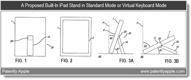 2 - Apple patent - built-in device stand in two modes - Feb 2011